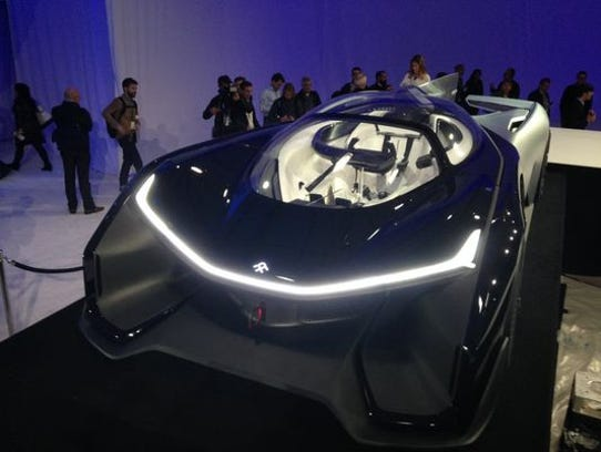 Faraday Future unveiling a striking if impractical