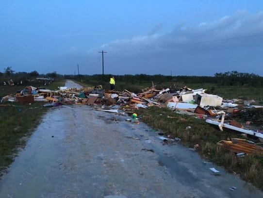 Storms left destruction in their path in Duette, Fla.