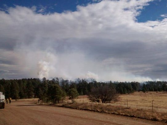 A small wildfire started Tuesday on the Mescalero Apache