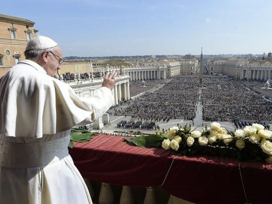 Pope Francis delivers the Urbi et Orbi (to the city