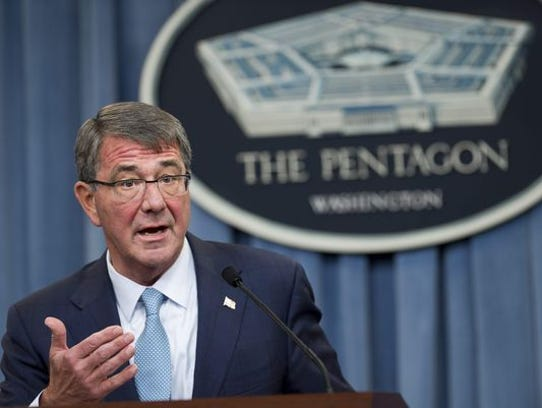 Secretary of Defense Ash Carter announces that the