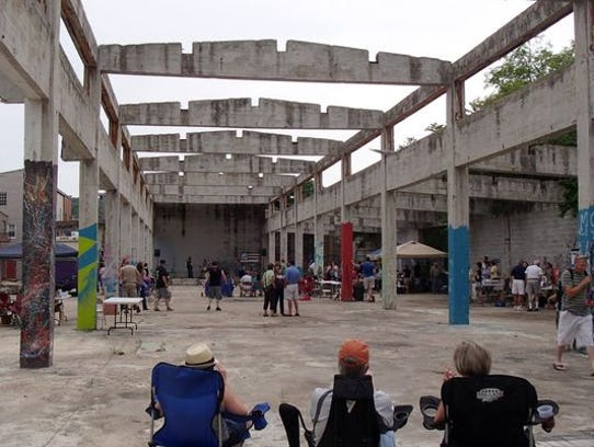 Ruins Park today, venue for concerts and community