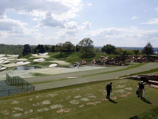 Gary Player on the Arnold Palmer-designed driving range