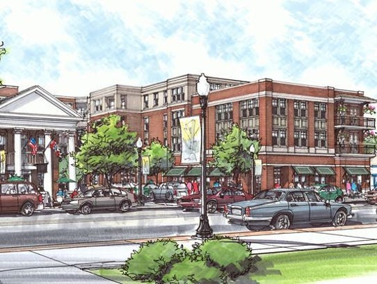 rendering of Harpeth Square in downtown Franklin, Tenn.
