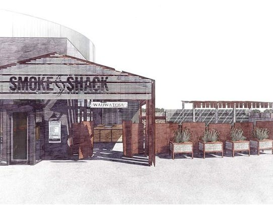 An artist rendering of the Smoke Shack, one of three
