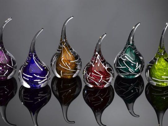 Glass vessels by craftsman Jake Pfeifer of Hot Glass