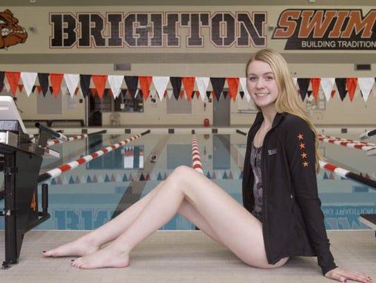 Brighton swimmer Taylor Seaman won two individual state