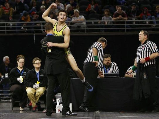 Hartland's Reece Hughes became the first in school