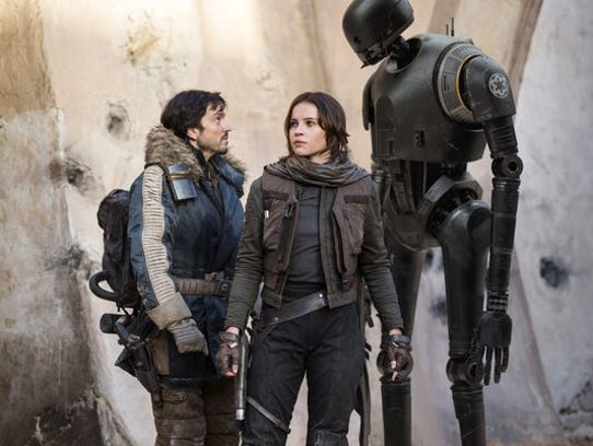 "The main characters in ""Rogue One: A Star Wars Story"""