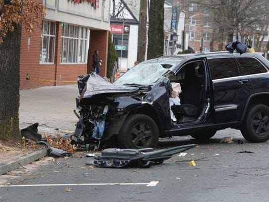 A Jeep Cherokee driven by off-duty New Rochelle police