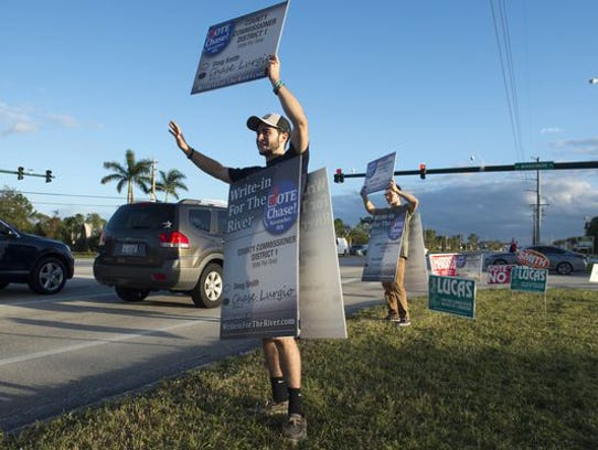 Chase Lurgio, a write-in candidate for the Martin County