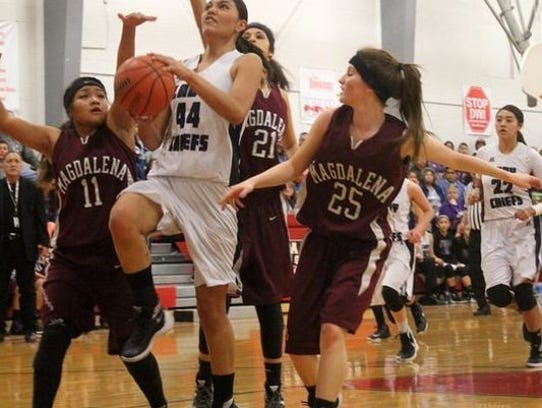 Lauryn Yuzos, Mescalero Apache High School.