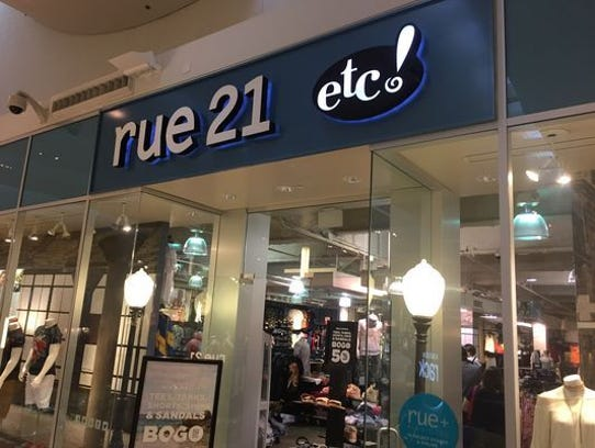 File photo shows the rue21 store at the Westfield Mall