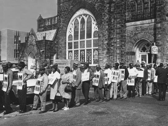As this March 29, 1968, photo shows, Clayborn Temple