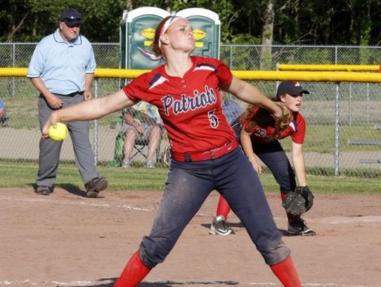 Binghamton senior Paige Rauch struck out 22 during the 2017 state final four in leading the Patriots to a runner-up finish in Class AA.