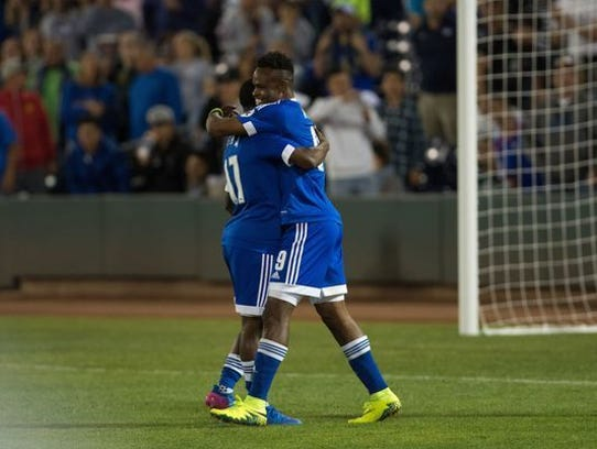 The Reno 1868 FC soccer club is in sixth place in the