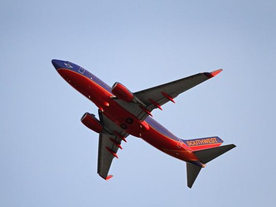 A Southwest Airlines flight leaves Louisville. The