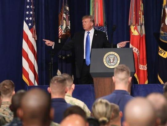 President Trump addresses nation about sending more