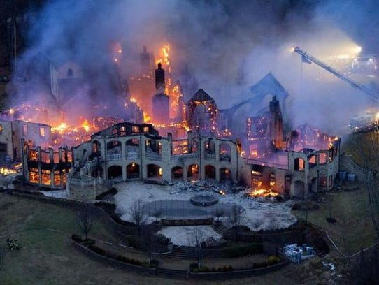 Jeffrey and Maria Decker's mansion at 9645 Cunningham