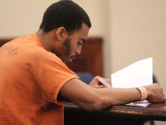 Zackery Alexander at a preliminary hearing
