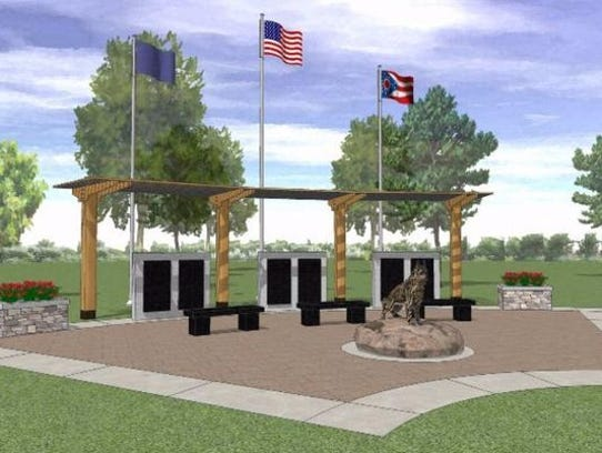 This is what the Ohio Police K9 Memorial in Amelia