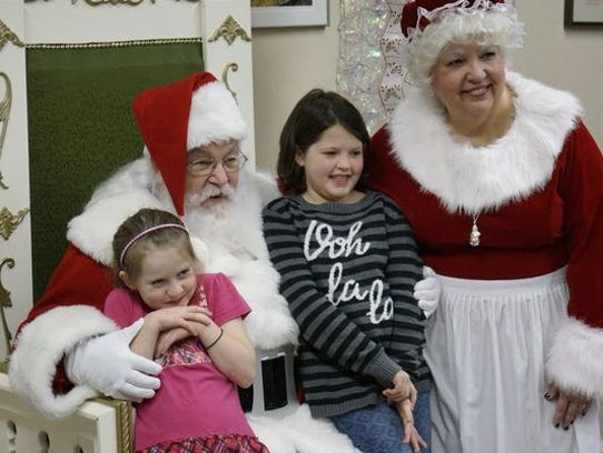 Santa Claus and Mrs. Claus at the Livonia Civic Center