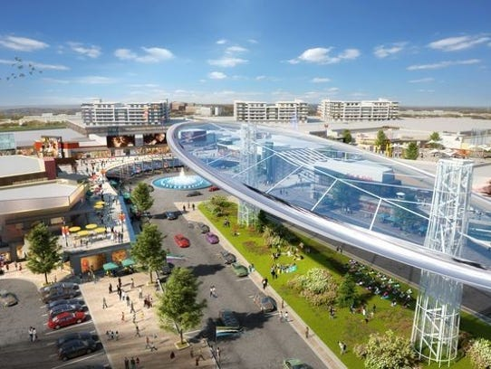 A rendering of a Monmouth Mall redesign.