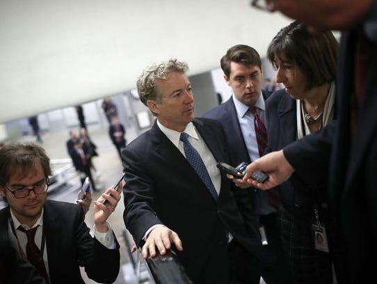 Sen. Rand Paul (R-KY) caused a short-lived government shutdown Feb. 8.