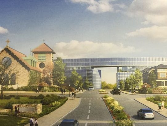 Rendering of possible development of the Good Counsel