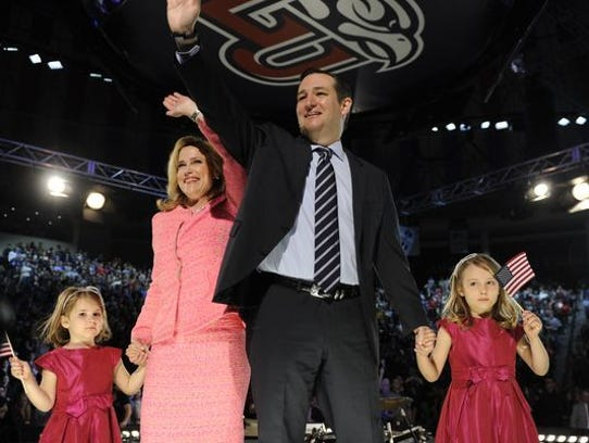 Ted and Heidi Cruz with their daughters during the