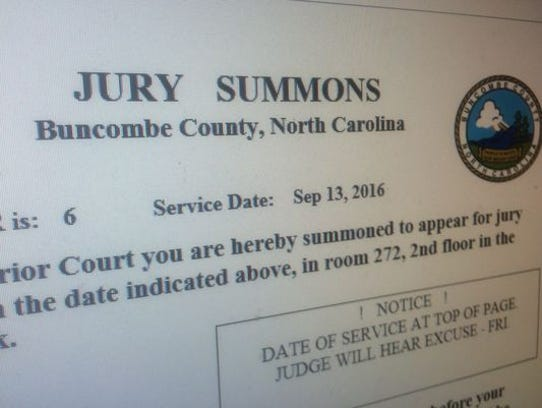 Buncombe County sends out close to 3,500 jury summons