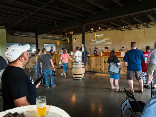 The bierhouse at the Hill Farmstead Brewery in Greensboro