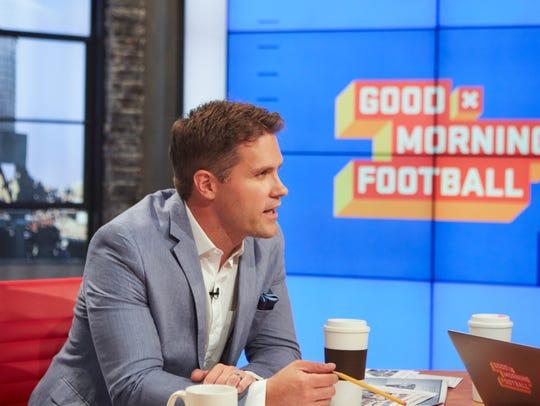 Kyle Brandt talks football on NFL Network show.