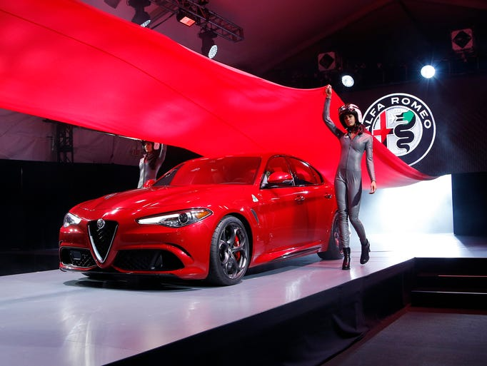 The 2017 Alfa Romeo Giulia debuts during the Los Angeles