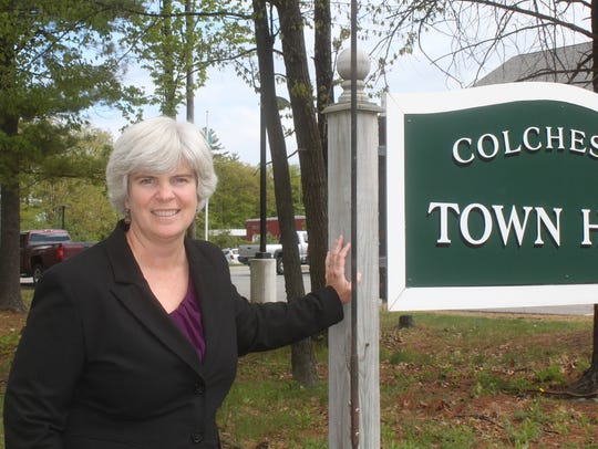 Dawn Francis, Colchester's Town Manager, in May 2013.