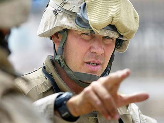 Lt. Col.  Bryan McCoy commander of the 3rd Battalion 4th Marine Regiment.