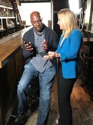 Tech columnist Jennifer Jolly with actor Richard T.
