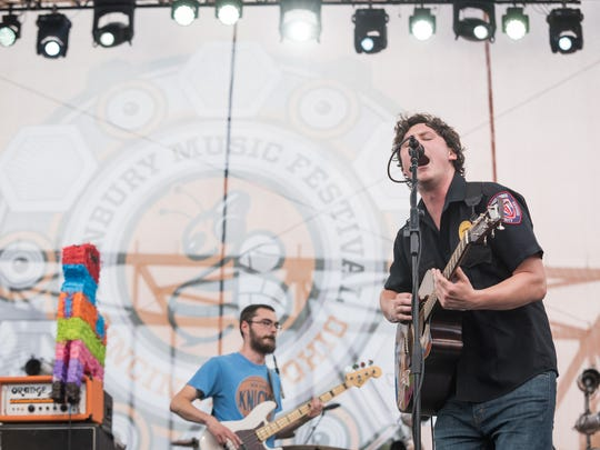 Bergen County native Brian Sella of The Front Bottoms (right), pictured in 2015.