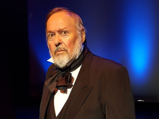 "Actor John Adair portrays Orson Welles in ""War of the Worlds."""