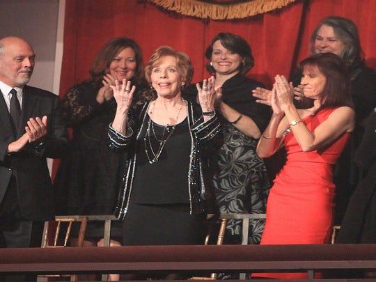 Carol Burnett is honored at the Kennedy Center on Oct.