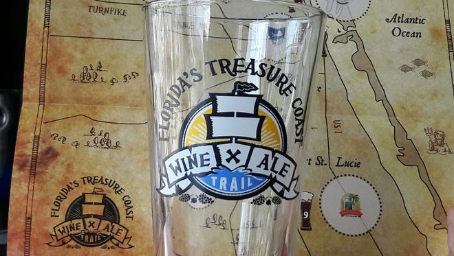 The treasure for completing the Treasure Coast Wine & Ale Trail is a pint glass.