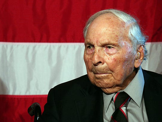 This June 18, 2008, file photo shows Frank Buckles,