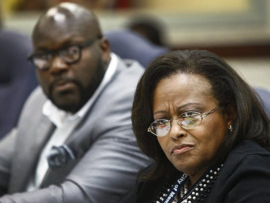 "(Mark Weber/The Commercial Appeal) Memphis City Councilwoman Patrice Robinson said she was ""ashamed"" that Memphis Light, Gas and Water customers in some lower-income areas go more minutes without power than others."