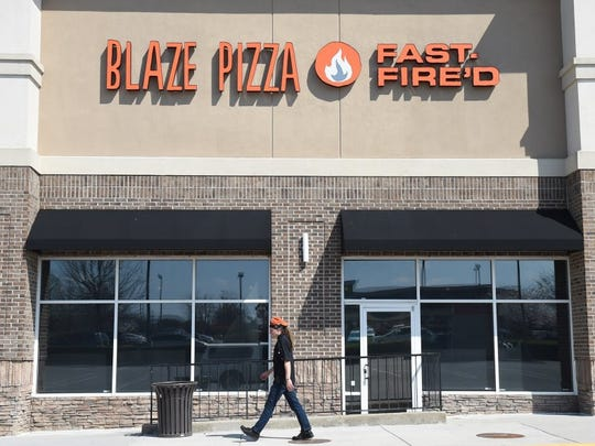 Blaze Pizza is at 10978 Parkside Drive.