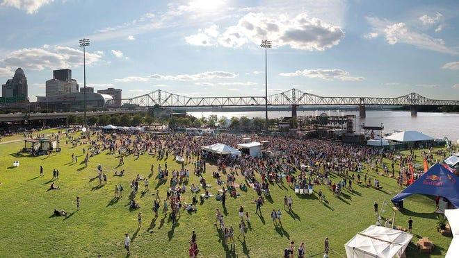 Forecastle Festivals at Waterfront Park are a popular riverfront event.  An early design for a new ramp would have shadowed part of the land.
