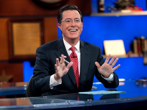 Stephen Colbert hosts the Comedy Central show