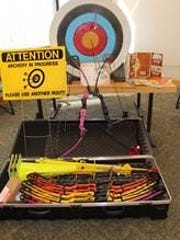 Parks and Recreation received more than $2,500 in equipment including compound bows, arrows, targets, a screen for indoor shooting and an introduction to bow hunting kit from the FWC.