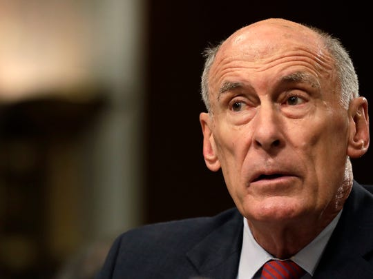 Former Director of National Intelligence Dan Coats listens to a question while testifying on Capitol Hill in Washington, Tuesday, May 23, 2017, before the Senate Armed Services Committee hearing on worldwide threats