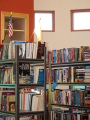 A spacious area is available for the CCPL&A used bookstore