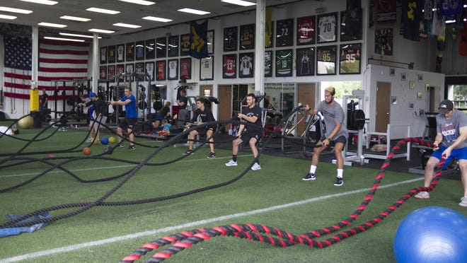 An intense, full-body workout at Barwis Methods in Plymouth got the long day started for Bandits goalies.